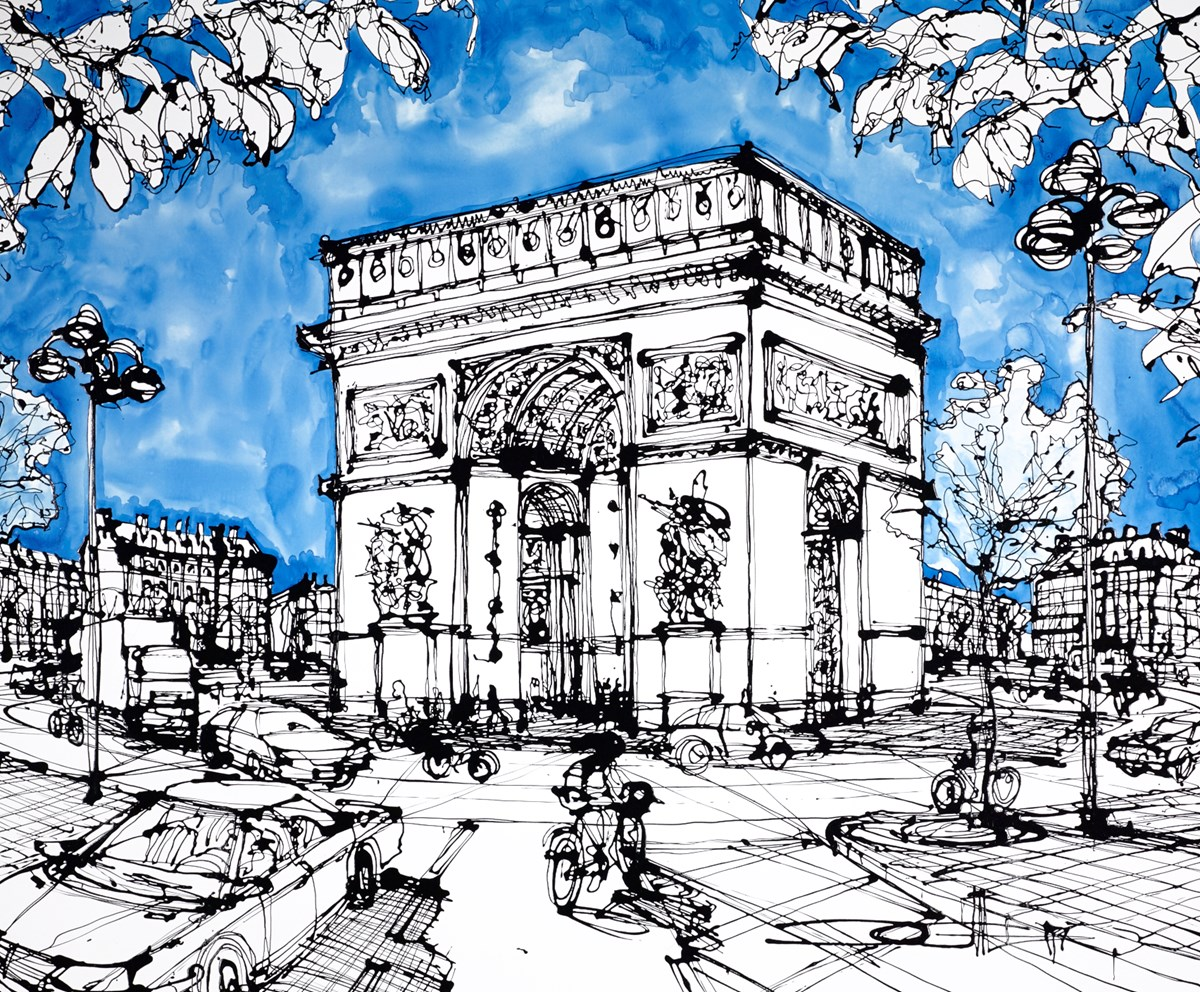Arc de Triomphe at Avenue de Friedland